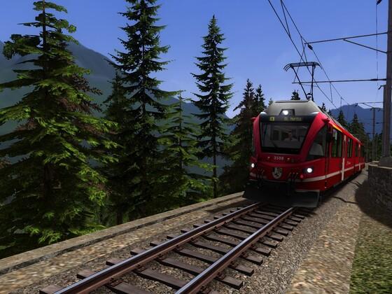 Auf der Berninabahn mit dem Allegra