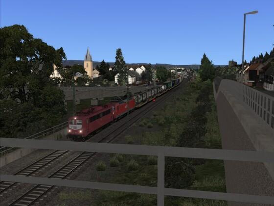 Ausfahrt Remagen in Richtung Bonn