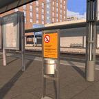 Bahnsteig Ausstattung