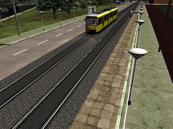 Mumpfis Beta Tram Strecke