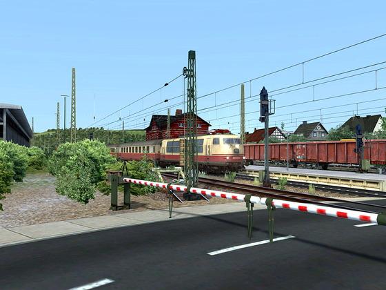 Neues Repaint Pack von Versystem zur vR BR103 EL und DTG BR103 Loco Steam auf der Strecke Hagen - Siegen