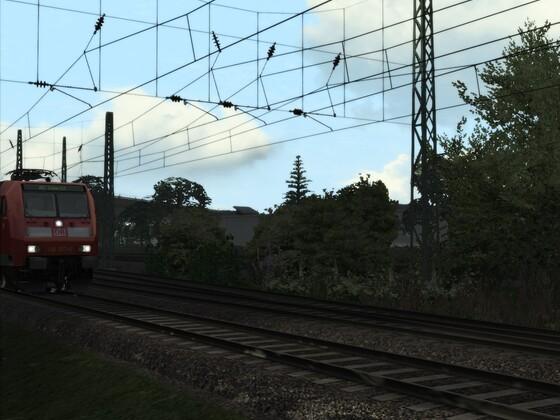 RE 5 an der Abzweigung nach Euskirchen