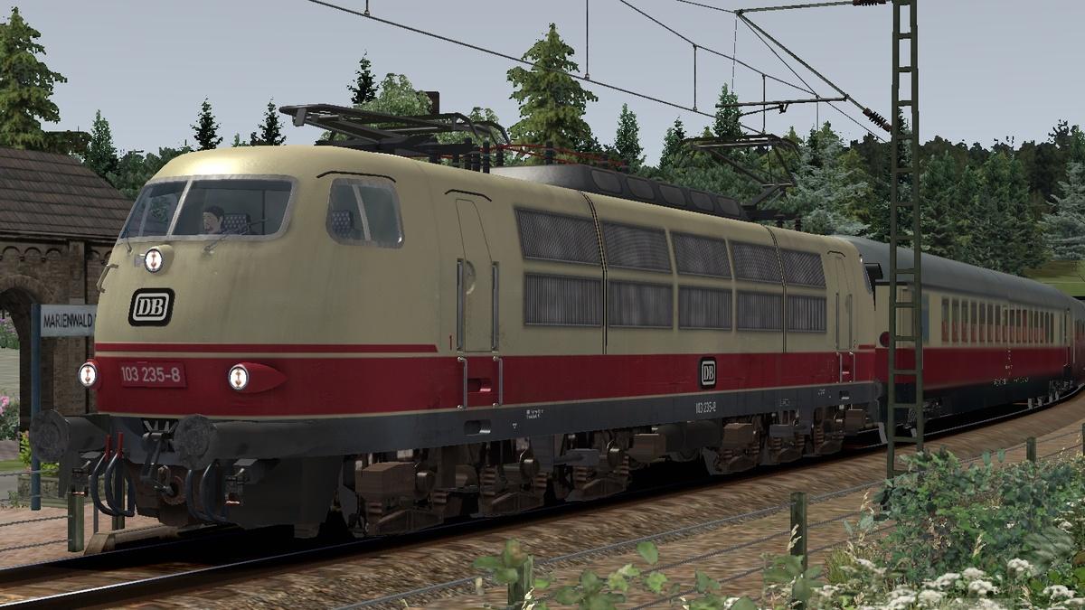Mit der BR103 im Wallfahrtsort Mariental, Sonderzug, Altenberg Wildau V3