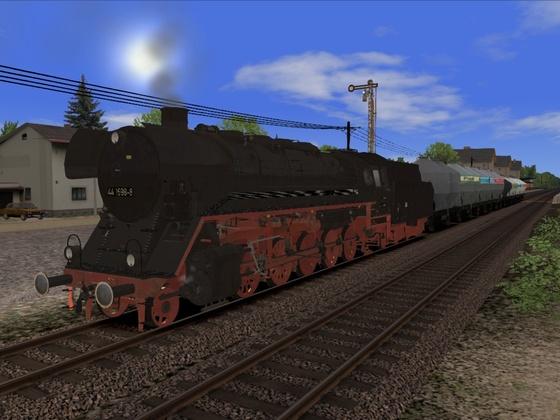 44 1698 Bw Stralsund mit DR Silowagen