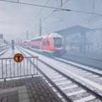 Bahnhof Plettenberg - Schneesturm Bild 2