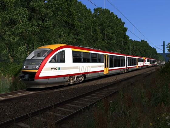 VT612 Doppeltraktion im repaint des Verkehrsverbund Oberelbe (VVO)