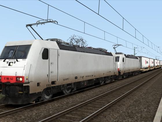 Br186 Dt mit Taschenwagen in richtung Karlsruhe