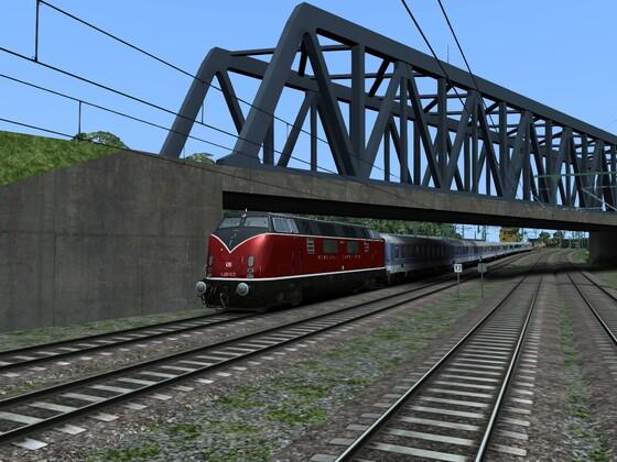 Nostalgie bundesbahn V200 Sonderzug nach Hannover