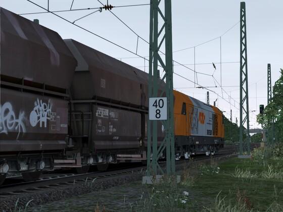 Bauzug Richtung Bonn